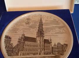 German pottery plate