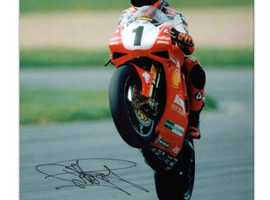 Carl Fogarty,signed photo with Proof.