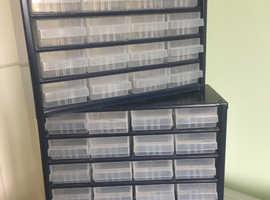 Raaco 24 drawer storage cabinet