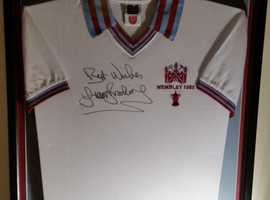 1980 F.A. cup Trevor Brooking shirt with provenance