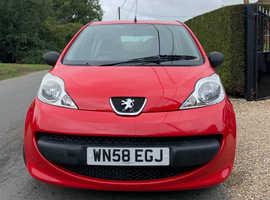 Peugeot 107, 2008 (58) Red Hatchback, Manual Petrol, 92,480 miles