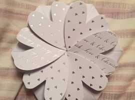 Lotus flower invites / favour boxes