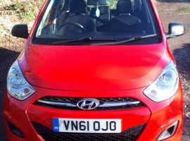 Hyundai i10, 2011 (61) red hatchback, Manual Petrol, 97,800 miles + Free Dash Camera Free 6 Month Warranty