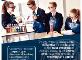 Train to Teach Event- Greensward Academy Tuesday 25th June