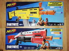 Large Fortnite Nerf guns x2, boxed and unopened