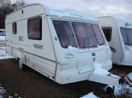 Bailey Pageant Imperial 2001 2 Berth Caravan + Two New Tyres + 3 Months Warranty Included