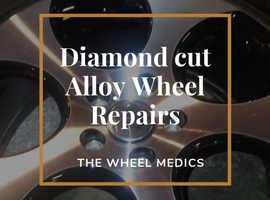 Diamond cut alloy wheel repairs