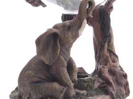 Decorative Elephant Oil Burner With Glass Dish