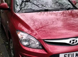Hyundai i30, 2011 (11) Red Hatchback, Manual Petrol, 60.000 miles