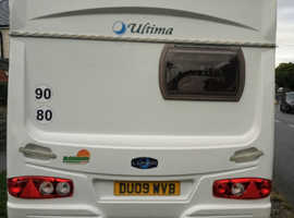 Lunar Ultima 462 2 berth caravan for sale year 2005 in a very good condition especially inside.