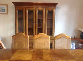 Table and 6 Chairs plus display unit to match