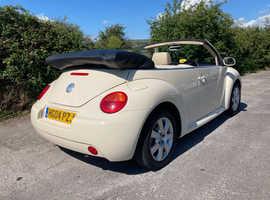 Volkswagen Beetle, 2004 (04) Harvest Moon Beige Convertible, Manual Petrol, 101,000 miles