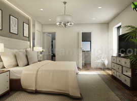 Modern Master Bedroom Ideas Developed By Yantram 3D Interior Rendering Services, Brussels - Belgium