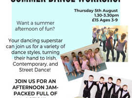 SHINE STUDIOS SUMMER DANCE WORKSHOP!