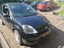 Ford Fiesta, 2004 (54) Black Hatchback, Manual Petrol, 120,000 miles