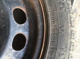 Winter Tyres on steel wheels