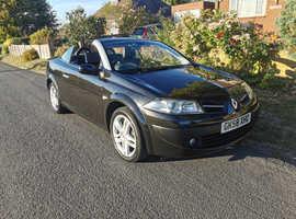 Renault Megane, 2009 (58) Black Convertible, Manual Diesel, 66,231 miles