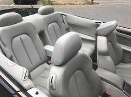 Mercedes Clk, 2001 (51) Black Convertible, Manual Petrol, 146,000 miles