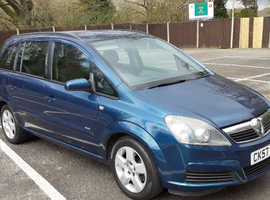 Vauxhall Zafira, 7 seater long mot 2 owners 1600cc drives fine