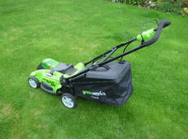 Battery Powered Lawnmower - no more trailing power cables!