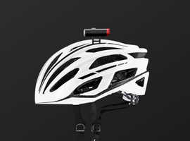 Clip-on USB Safety Helmet Light - Front and Back Light for bicycle or helmet and USB charging