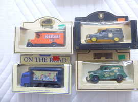 4 DIE-CAST MODEL VEHICLES  ( TEA THEME ) £2.25 EACH OR ALL 4 FOR £7