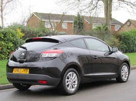 Renault Megane, 2013 (63) Black Coupe, Manual Diesel, 72,000 miles
