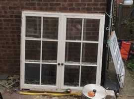 Wooden wall cabinet all ready for stripping this is a custom piece