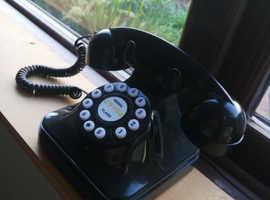 Retro style Black home phone