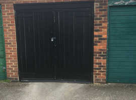 Dry lockup garage for long term rent central Virginia Water next to train station.