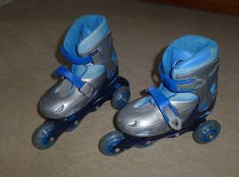 Blue Dunlop Inline Skates (Adjustable Size 3 - 6)