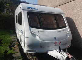Ace Aristocrat 2004 4 berth end shut off wash room with changing area caravan