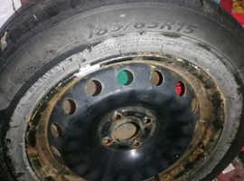 Brand new tyre on rim 185 /65r15