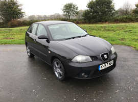Seat Ibiza, 2008 (57) Black Hatchback, Manual Petrol, 94,000 miles