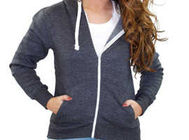 Girls Plain Ladies Zip Up Sweatshirt Fleece Hoodie less than 10 Pounds