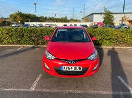 Hyundai i20, 2014 (64) Red Hatchback, Manual Petrol, 60,000 miles