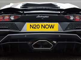 N20NOW - Exclusive Cherished Personal Private Registration Number Plate