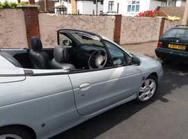 Renault MEGANE CAB PRIVIL+ 16V, 2002 (02) grey Convertible, Manual Petrol, 76,500 miles