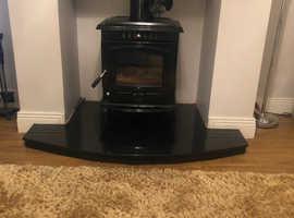 Multi fuel fire back boiler stove