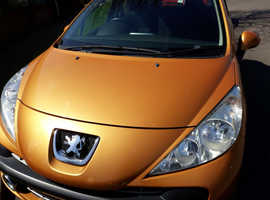 Peugeot 207, 2008 (08) Orange Hatchback, Manual Petrol, 84,000 miles