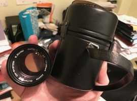 Olympus Zuiko 135mm f3.5 telephoto lens and case