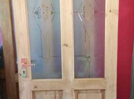 4 solid  pine internal doors