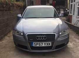 Audi A8, 2007 (57) Silver Saloon, Automatic Diesel, 152,708 miles