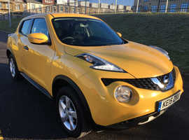 Nissan Juke, 2015 (15) Yellow Hatchback, Manual Petrol, 73,000 miles