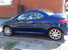Peugeot 206, 2006 (06) Blue Coupe, Manual Petrol, 112 miles