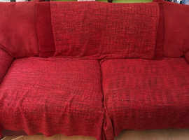 Large 3 Seater leather and fabric sofa. Free or donation