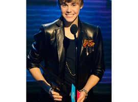 2010 Music Awards Winner Justin Bieber Black Leather Jacket