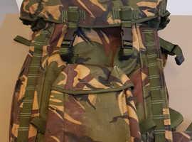 Army short back Bergen rucksack