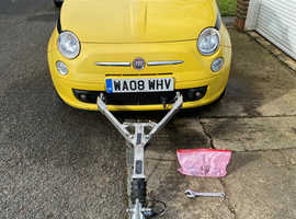 Fiat 500, 2008 (08) Yellow Hatchback, Manual Petrol, 75,213 miles