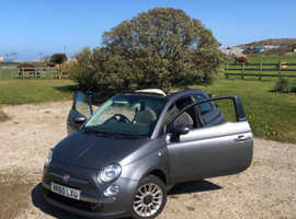 Fiat 500, 2010 (60) grey convertible, Manual Petrol, 90,000 miles